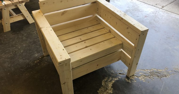 Square chair project … continued