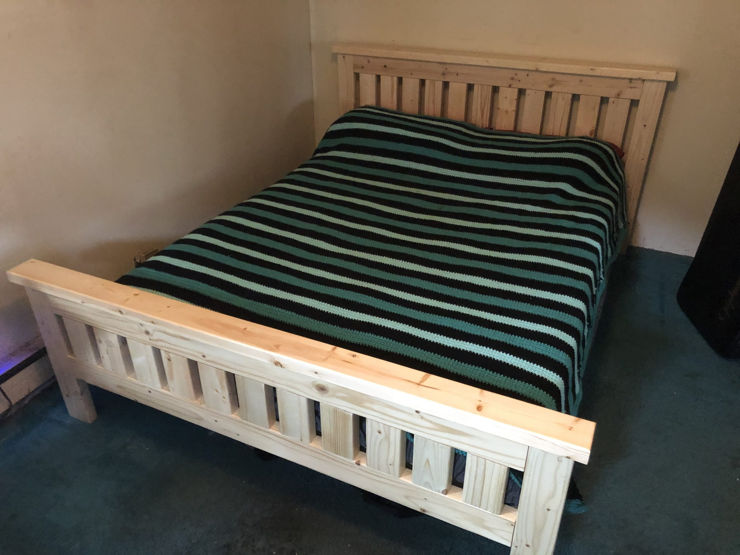 Our first bed!
