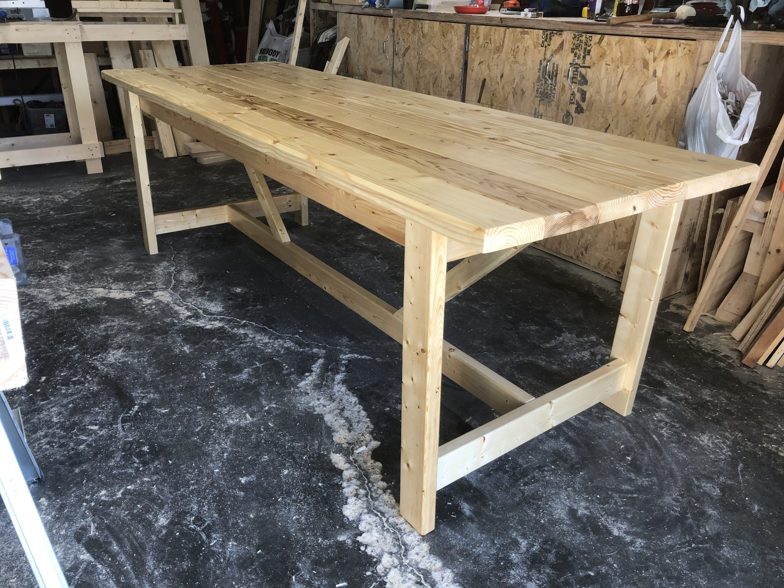 Table & benches – video!