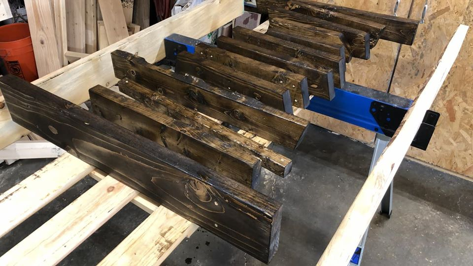 Some junk wood, some stain …. what will happen?